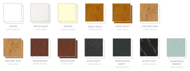 uPVC window frame colours
