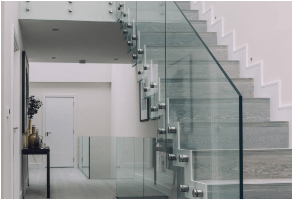 glass balustrade balustrades staircase indoor Staffordshire Cheshire Stoke-on-Tent Stone Stafford Trentham Newcastle-under-Lyme Cheshire Crewe Chester Alsager Nantwich